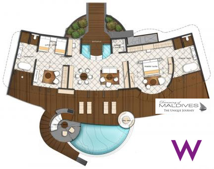 W Maldives WOW Ocean Escape Floor Plan