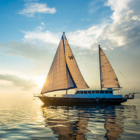 W Maldives best Moment and Place Sail on a luxury Sailing Yacht