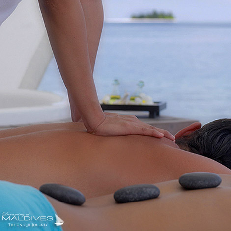 W Maldives Spa Treatments for the Body. Hot Stones and massage