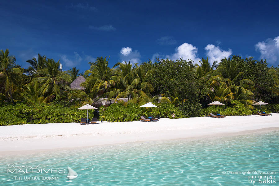 W Maldives - View From the Beach towards a Wonderful Beach Oasis