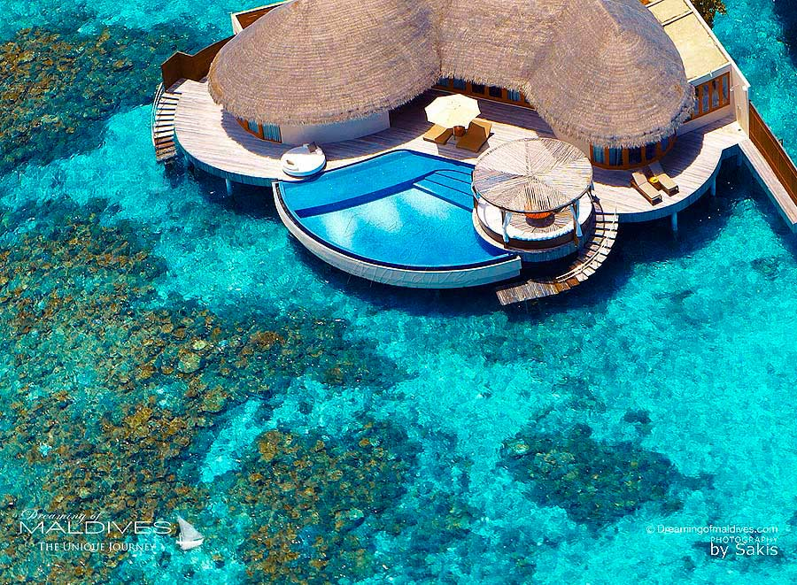 W Maldives Extreme WOW Ocean Haven Aerial View
