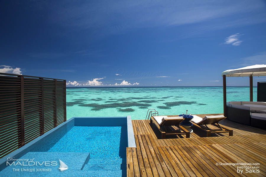 W Maldives - View from a Fabulous Lagoon Oasis Water Villa