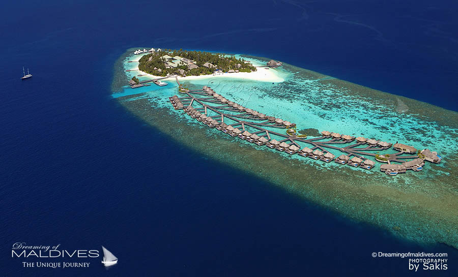 W Maldives Resort Aerial view