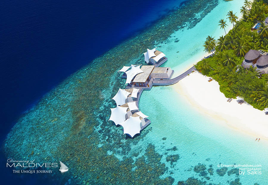 W Maldives Away Spa Aerial View