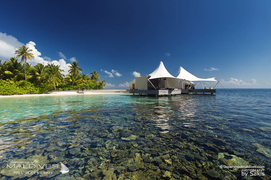 W Maldives Away Spa surrounded by an outstanding house reef