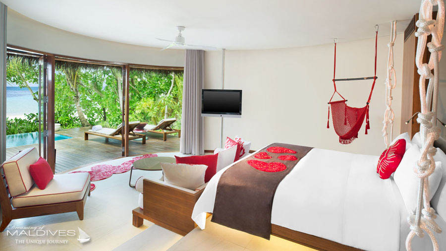 W Maldives Wonderful Beach oasis Bedroom