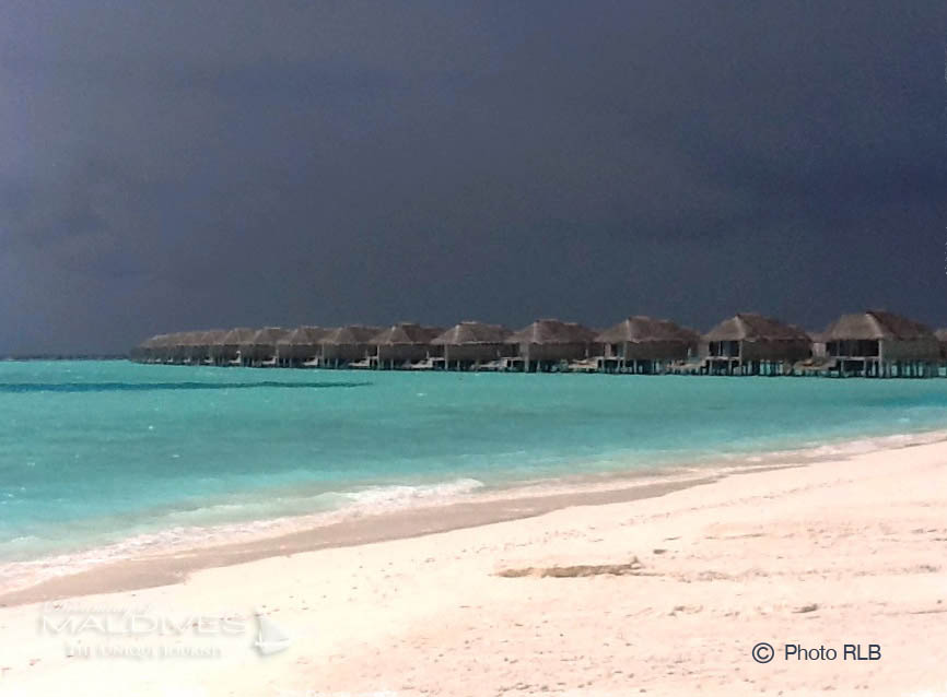 Maldives Weather - Storm and Dark Skies during Summer Monsoon